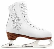 Детские фигурные коньки СК (Спортивная коллекция) Le Fleur 100% Leather для девочек