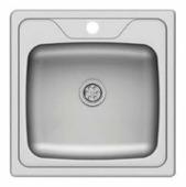 Врезная кухонная мойка Asil E LO004 / AS 22 50х50см нержавеющая сталь