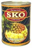 Консервированные ананасы SKO кусочки в сиропе, жестяная банка 565 г