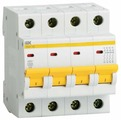 Автоматический выключатель IEK ВА 47-29 4P (C) 4,5kA