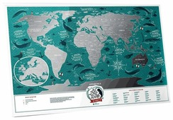 1DEA.me Скретч Карта Мира Marine