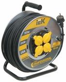 IEK Удлинитель на катушке 4х50м с заземл. 16А IP44 УК50 Professional с термозащ. КГ 3х2.5