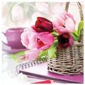 Белоснежка Набор для вышивания Тюльпаны в корзине 50 x 50 см (7030-3D)