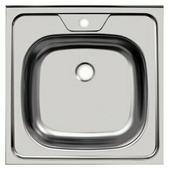 Накладная кухонная мойка UKINOX Standart STD 500.500-4C 0C 50х50см нержавеющая сталь