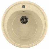 Врезная кухонная мойка Mixline ML-GM11 50.5х50.5см искусственный мрамор