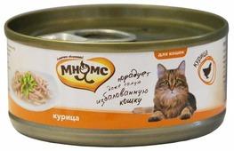 Корм для кошек Мнямс с курицей 70 г (кусочки в желе)
