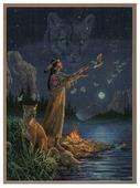 Dimensions Набор для вышивания Hidden Spirits (Скрытые духи) 27,9 х 38,1 см (35055)