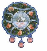 Наклейка интерьерная Феникс Present Новогодний венок 30 x 37 см
