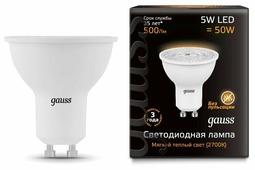 Лампа светодиодная gauss 101506105, GU10, JCDR, 5Вт