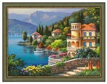 Алмазная живопись Набор алмазной вышивки Озеро Комо (АЖ-1333) 40х30 см