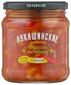 Фасоль Лукашинские печеная по-астрахански с овощами, стеклянная банка 460 г
