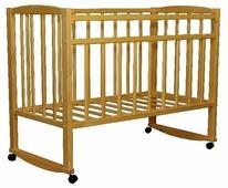 Кроватка Волжская деревообрабатывающая компания Кр1-02м (качалка), на полозьях