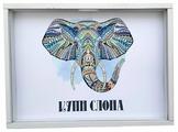 Копилка Grifeldecor Купи слона, МДФ, 30x2.5x21 см, белый