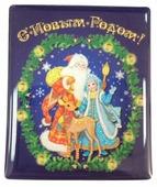 Магнит Феникс Present Дед Мороз, снегурочка и олень 6 см