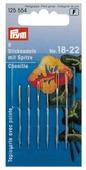Набор игл ручных Prym 125554 для вышивки с острием (остро отточенным) 6 шт.