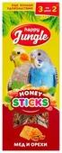 Лакомство для птиц Happy Jungle мед + орехи