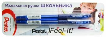 Pentel Набор шариковых ручек Feel it! 0.5 мм, в упаковке 2 штуки (XBX485)