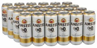 Пиво безалкогольное светлое Amstel 0,45 л 24 шт
