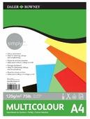 Цветная бумага Simply Daler-Rowney, A4, 21 л., 7 цв.