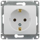 Розетка Schneider Electric GLOSSA GSL000143,16А, с заземлением, белый