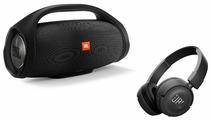 Портативная акустика JBL Boombox + наушники T450BT