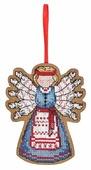Созвездие Набор для вышивания крестом на основе серия Обережки, Помощница. Десятиручка 9,5 х 7,5 см (О-102)