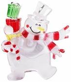 Фигурка NEON-NIGHT Снеговик с подарком 9 см