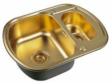 Врезная кухонная мойка ZorG PVD SZR-62-2-49 BRONZE 62х49см нержавеющая сталь