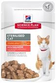 Корм для стерилизованных кошек Hill's Science Plan для профилактики МКБ, с лососем 85 г (кусочки в соусе)