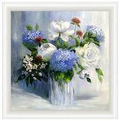 Репродукция Декарт Синие цветы