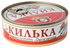 Пролив Килька черноморская неразделанная Эксклюзив обжаренная в томатном соусе,