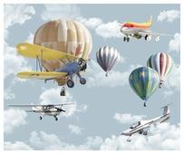 Фотообои флизелиновые детские Design Studio 3D Воздушная фантазия 3х2.5м