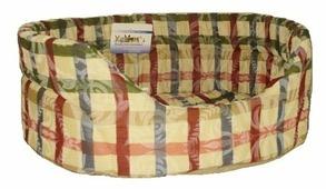 Лежак для кошек, для собак Бобровый Дворик с бортиком Лагуна №2 46х35х16 см