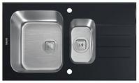 Врезная кухонная мойка Tolero Glass TGR-860k 86х50см нержавеющая сталь