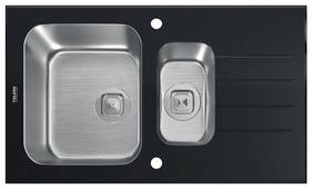 Врезная кухонная мойка Tolero Glass TGR-860k