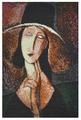 Созвездие Набор для вышивания бисером по мотивам картины Амедео Модильяни Портрет Жанны Эбютерн 22 х 35 см (Р-101)