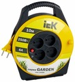IEK Удлинитель на катушке 4х10м без заземл. 6А IP20 УК10 Garden с термозащ. 2х0.75