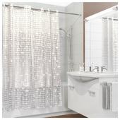 Штора для ванной Valiant White Shine 180х180