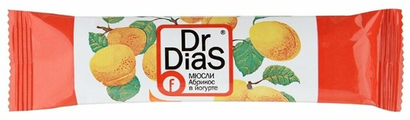 Фруктовый батончик Dr. DiaS Абрикос в йогурте 38 г