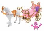 Кукла Girl's Club с каретой и лошадью, IT102731