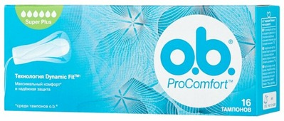 O.b. тампоны ProComfort Super Plus