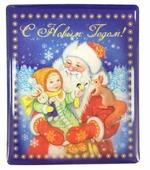 Магнит Феникс Present Дед Мороз с ребенком 6 см
