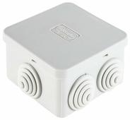 Распределительная коробка Ecoplast JBS070 наружный монтаж 70x70 мм