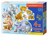 Набор пазлов Castorland Jungle Babies (B-04249/C4-04126)