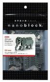 Конструктор Nanoblock Miniature NBC-035 Африканский Слон