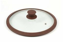 Крышка TimA стеклянная с силиконовым ободом 4828BR/BL (28 см)