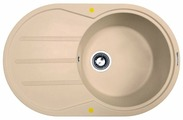 Врезная кухонная мойка Zigmund & Shtain KREIS OV 770 D 77х49.5см искусственный гранит