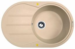 Врезная кухонная мойка Zigmund & Shtain KREIS OV 770D 77х49.5см искусственный гранит