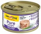 Корм для собак GimDog Pure Delight курица, тунец с рисом 85г (для мелких пород)