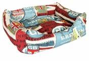 Лежак для кошек, для собак PRIDE Британия (10012660) 52х41х10 см